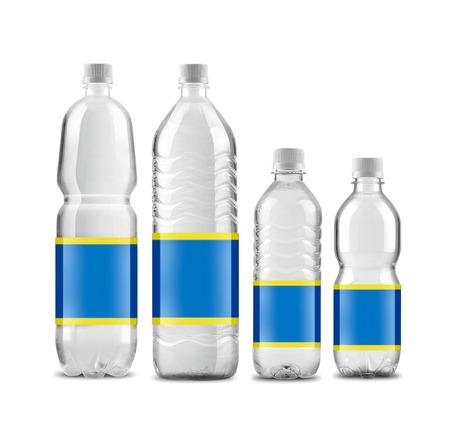 bottled water: Bottled water isolated on white