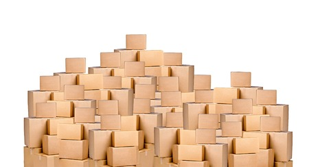 cardboard: cardboard boxes Stock Photo