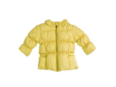 yellow jacket: Bright childrens yellow jacket