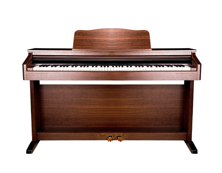 brown piano isolated photo