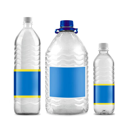 bottled: Bottled water in 3 sizes isolated