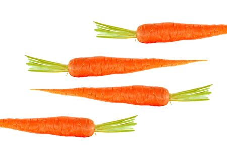 fresh carrots isolated on white photo