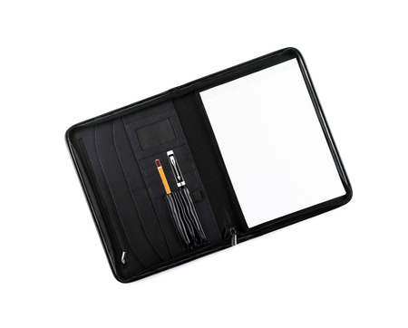 handwrite: Pen with pencil in notebook