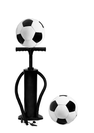 dint: pump and football balls isolated