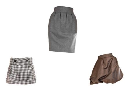 skirts: skirts isolated on white background Stock Photo