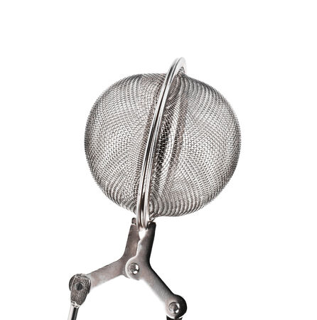 tea infuser: a tea infuser isolated on a white background Stock Photo