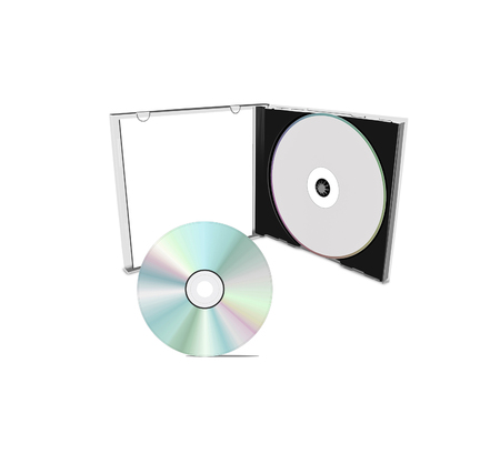 dvdrw: DVD case isolated on a white background Stock Photo