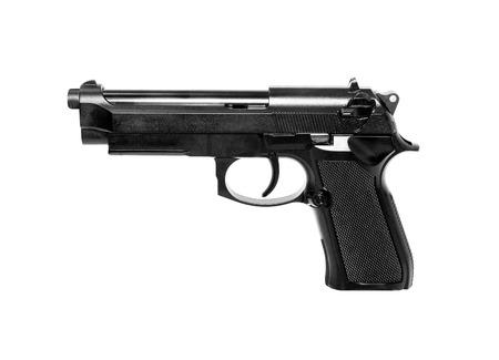 pistolas: Pistola sobre fondo blanco