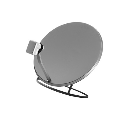 parabolic mirror: isolated satelite dish on white background