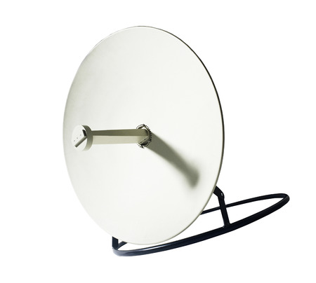 parabolic mirror: Receiver.Satelite dish isolated on white backgroun
