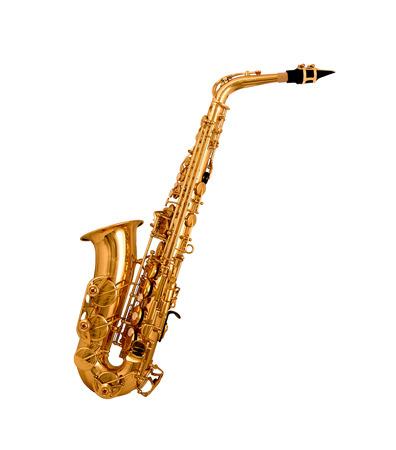 Saxophone isolated on white background photo