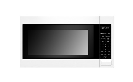 microwave: stylish microwave oven isolated on white background