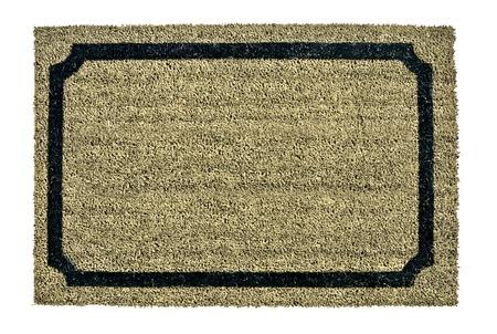 welcome door: A new welcome doormat isolated