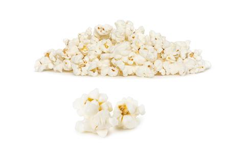 Popcorn pile isolated on white