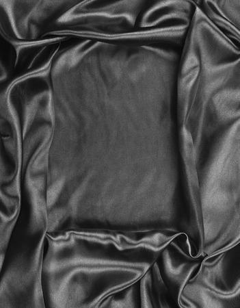 black satin: negro satinado Foto de archivo