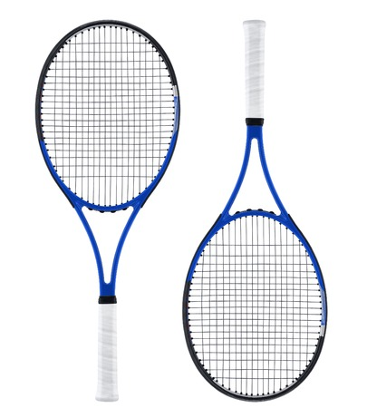 raqueta de tenis: Raqueta de tenis, aislado en blanco