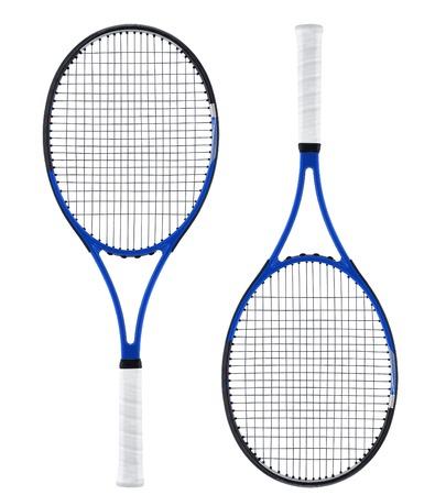tennis racket: Tennis racket, isolated on white Stock Photo