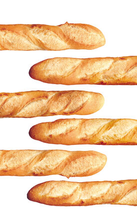 baguet: French Bread Baguette isolated