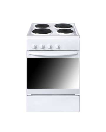 electric cooker on white background photo