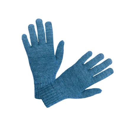 10 fingers: Blue gloves Stock Photo