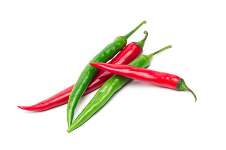 pepper: Chili pepper isolated on white background Stock Photo