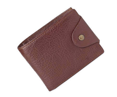 leather wallet against white background photo