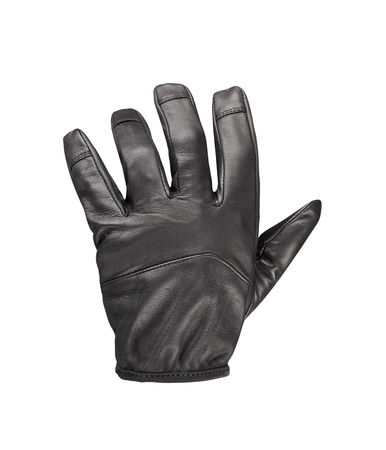 leather gloves: black leather glove Stock Photo