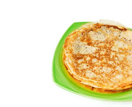 rubicund: homemade pancakes pile on plate