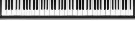 흰색 배경에 피아노 키보드