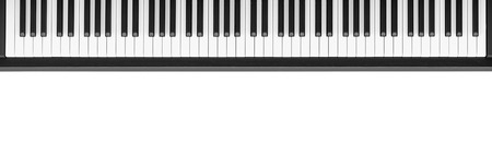 keyboard instrument: Piano keyboard on white background Stock Photo