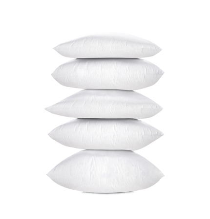 pillows isolated on white photo