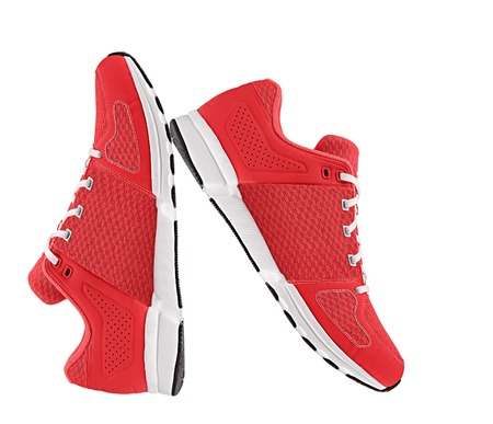 red womens sport shoes photo