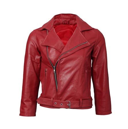rood lederen jas