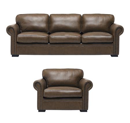 arredamento classico: Bel divano e in pelle di lusso