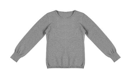 ensemble: gray woolen sweater