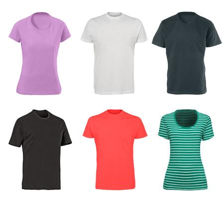 t shirts isolated on white photo