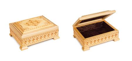 Deux vieux antique, fermé et ouvert tronc arabique. Banque d'images - 35539109