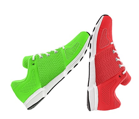 red and green womens sport shoes photo