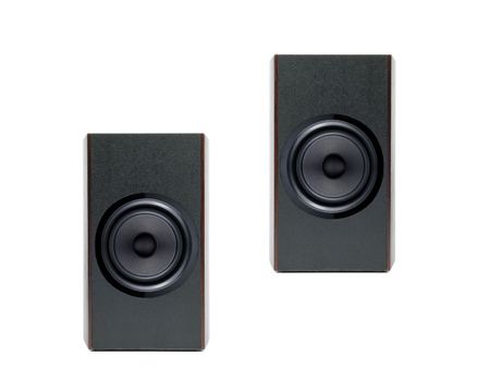 acoustic systems: Acoustic system isolated Stock Photo