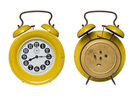 front and back of  alarm clock photo
