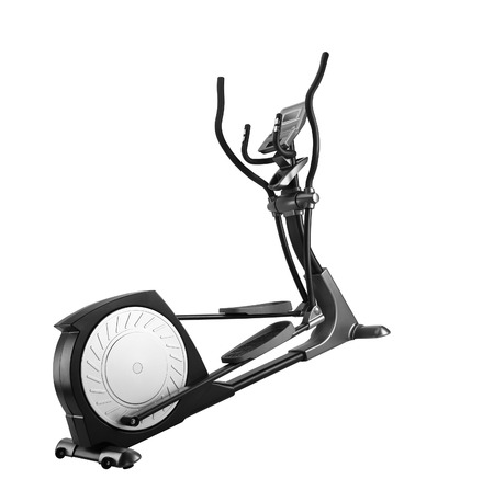 hometrainer: Elliptical gym machine over white background