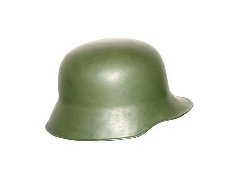 headgear: Vintage Army Helmet Stock Photo