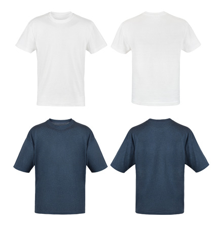 male shirt template, black and white