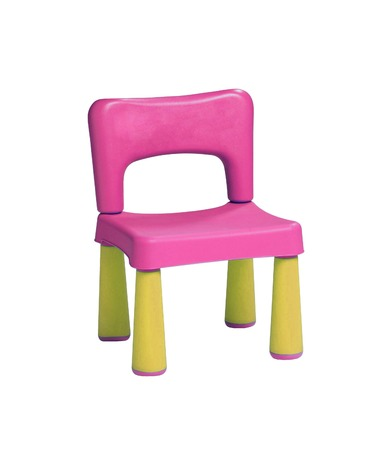 stool: baby plastic stool on a white background