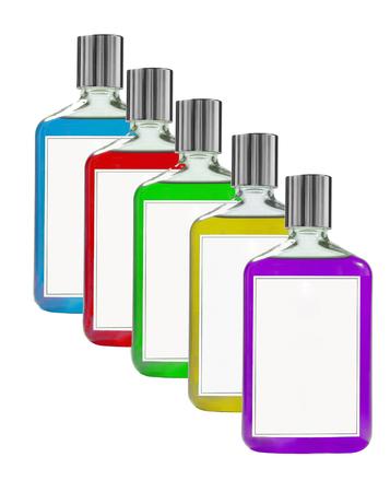 balsam: Balsam bottles isolated on white