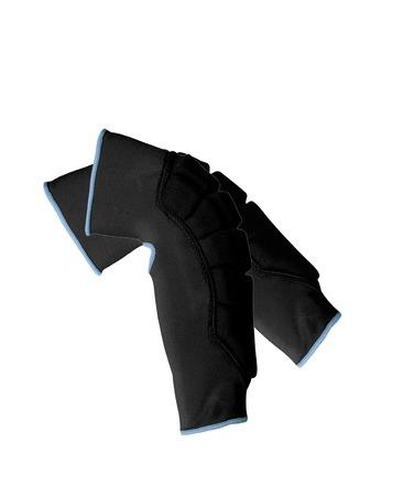 throb: Knee-cap bondages isolated on white Stock Photo