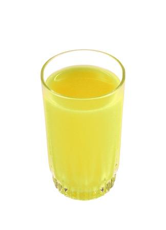 jus de citron: lemon juice isolated on white