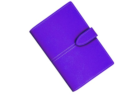 handlers: violet Wallet. On a white background. Stock Photo