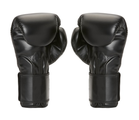 par boxing gloves on a white background. photo