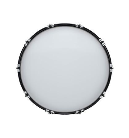 バスドラムのクローズ アップで白で隔離